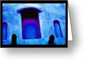 Shamanic Photo Greeting Cards - Blue Portals Greeting Card by Susanne Still