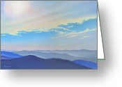 Award Winning Digital Art Greeting Cards - Blue Ridge Blue Greeting Card by Catherine Twomey