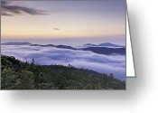 Cloudscape Photographs Greeting Cards - Blue Ridge Cloudscape ll Greeting Card by Rob Travis