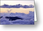 Cloudscape Photographs Greeting Cards - Blue Ridge Cloudscape Greeting Card by Rob Travis