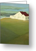 Contry Greeting Cards - Blue Ridge Horse Farm Greeting Card by Robert Ferrucci