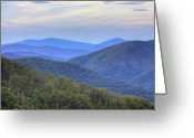 Shenandoah Greeting Cards - Blue Ridge Mountains of Shenandoah National Park Virginia Greeting Card by Brendan Reals