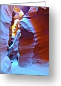 Peter Lik Greeting Cards - BLUE RIDGES  in Lower Antelope Canyon Greeting Card by Ruth Hager