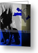Legs Digital Art Greeting Cards - Blue Romance Greeting Card by Irina  March