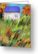 Autumn Landscape Pastels Greeting Cards - Blue Roof Greeting Card by John  Williams