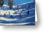 French Landscape Greeting Cards - Blue shadows Greeting Card by Andrew Macara