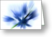 Blue Flowers Greeting Cards - Blue Greeting Card by Sharon Lisa Clarke