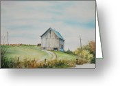 Indiana Autumn Greeting Cards - Blue Skies Greeting Card by Mike Yazel