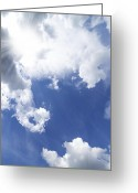 Sunshine Greeting Cards - Blue Sky And Cloud Greeting Card by Setsiri Silapasuwanchai