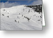 "\""colorado Resort\\\"" Greeting Cards - Blue Sky Basin Panorama - Vail Colorado Greeting Card by Brendan Reals"