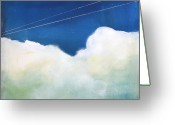Blackbirds Greeting Cards - Blue Sky Birds Greeting Card by Toni Grote