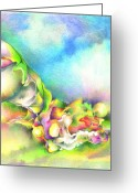 Trippy Greeting Cards - Blue sky Greeting Card by Bodhi  