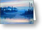 Emotion Pastels Greeting Cards - Blue Solitude Greeting Card by Cathy Weaver