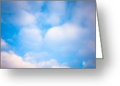 Evening Scenes Photo Greeting Cards - Blue Square Greeting Card by Konstantin Dikovsky