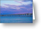 Panama City Beach Greeting Cards - Blue Sunrise Greeting Card by Susan Medeiros