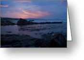 Luz Greeting Cards - Blue sunset on the coast Greeting Card by Fernando Alvarez