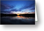 Wisconsin Greeting Cards - Blue sunset Greeting Card by Ty Helbach