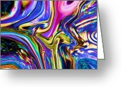 Color Bending Greeting Cards - Blue Tango Greeting Card by Greg Reed Brown