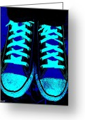 Wear Greeting Cards - Blue-tiful Greeting Card by Ed Smith