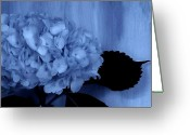 Wrap...floral Greeting Cards - Blue Tint Hydrangea Greeting Card by Marsha Heiken
