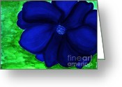 Darken Greeting Cards - Blue Velvet Greeting Card by Marsha Heiken