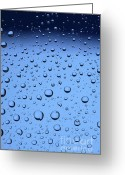 Clean Greeting Cards - Blue Water Bubbles Greeting Card by Frank Tschakert