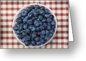 Fruit Basket Greeting Cards - Blueberries - 5D17825 Greeting Card by Wingsdomain Art and Photography