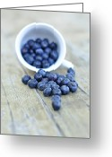 Cup Photo Greeting Cards - Blueberries In Cup Greeting Card by Anna Hwatz Photography Find Me On Facebook
