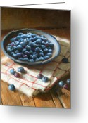 Cooks Illustrated Painting Greeting Cards - Blueberries Greeting Card by Robert Papp