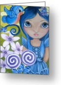 Jaz Greeting Cards - Blueberry Greeting Card by Jaz Higgins