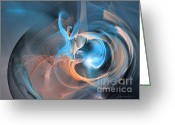 Computerart Greeting Cards - Blueberry soul - Fractal art Greeting Card by Sipo Liimatainen