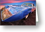 Super Bee Greeting Cards - Bluebird - 1970 Plymouth Road Runner Superbird Greeting Card by Gordon Dean II