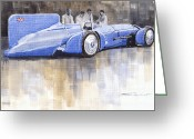 Speed Greeting Cards - Bluebird world land speed record car 1931 Greeting Card by Yuriy  Shevchuk