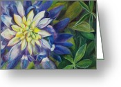 Starlet Greeting Cards - Bluebonnet Daze Greeting Card by Mary Wykes