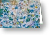 Oyster Mixed Media Greeting Cards - Bluebonnet Greeting Card by Don  Wright