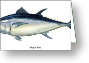 Squid Greeting Cards - Bluefin Tuna Greeting Card by Charles Harden