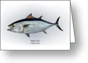 Game Drawings Greeting Cards - Bluefin Tuna Greeting Card by Ralph Martens