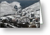 Mountain Vineyards Greeting Cards - Bluehlertal in Black Forest of Germany Greeting Card by Eva Kaufman