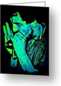 Player Photo Greeting Cards - Blues Harp Greeting Card by Chris Berry