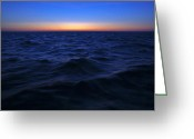Offshore Greeting Cards - Bluewater sunset Greeting Card by Gary Eason