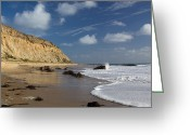 Sandstone Bluffs Greeting Cards - Bluffs at Crystal Cove Greeting Card by Cliff Wassmann