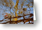 Shine Greeting Cards - Blurred Reality Greeting Card by Robert Harmon