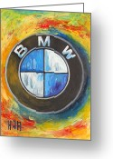 Poster Mixed Media Greeting Cards - BMW - The Ultimate Driving Machine Greeting Card by Dan Haraga