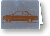 Bmw Classic Car Greeting Cards - BMW 2002 Orange Greeting Card by Irina  March