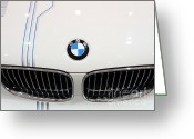 White Wing Greeting Cards - Bmw . 7d9572 Greeting Card by Wingsdomain Art and Photography