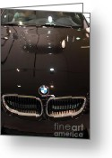 Bmw Classic Car Greeting Cards - Bmw . 7d9575 Greeting Card by Wingsdomain Art and Photography
