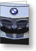 Bmw Classic Car Greeting Cards - BMW Grille Greeting Card by Jill Reger