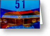 Bmw Classic Car Greeting Cards - BMW Racing colors Greeting Card by Irina  March