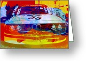 Bmw Classic Car Greeting Cards - BMW Racing Greeting Card by Irina  March