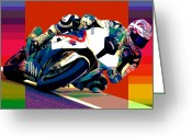 Motogp Greeting Cards - BMW s1000rr discovered Greeting Card by Barry Shereshevsky
